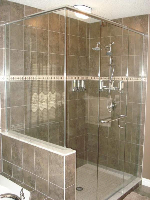 Glass showers glass shower doors mirrors london ontario for Tub shower glass enclosure